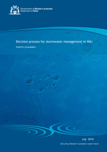 Draft decision process for stormwater management July 16 front cover